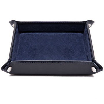 Ettinger Lifestyle Collection Leather Travel Tray, Navy
