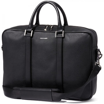 Hook and Albert Black Leather Formal Briefcase