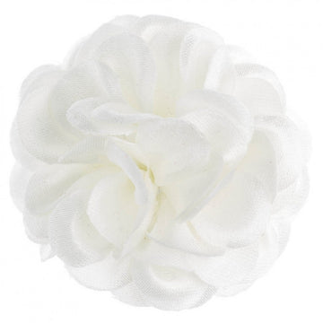 Hook and Albert Large Lapel Flower, Ivory