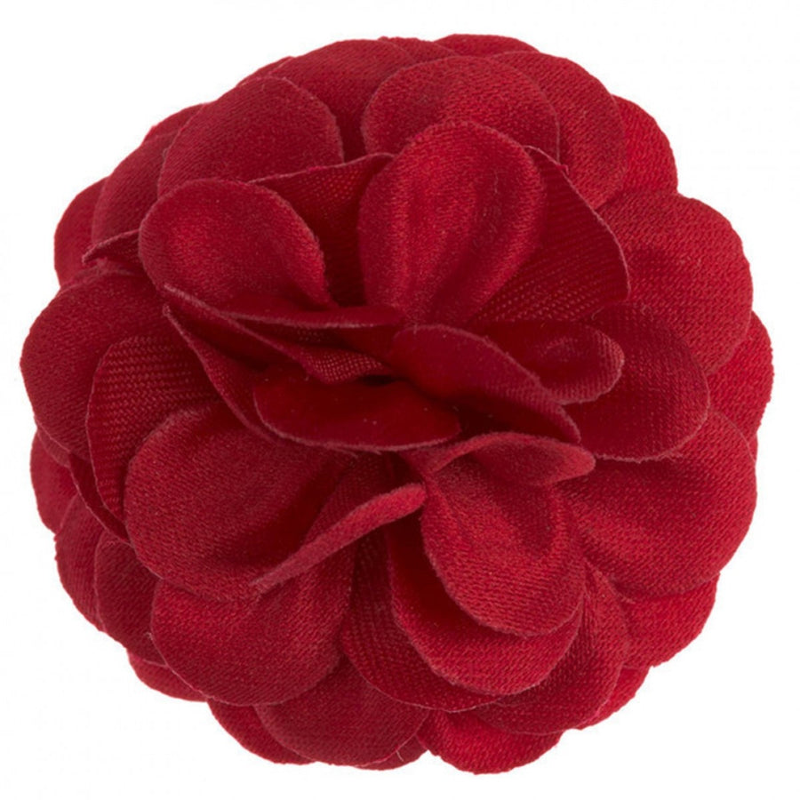 Hook and Albert Large Lapel Flower, Red