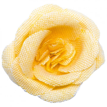 Hook and Albert Chambray Buttercup Large Lapel Flower, Yellow