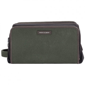 Hook and Albert GEN2 Dopp Kit Olive Twill Canvas