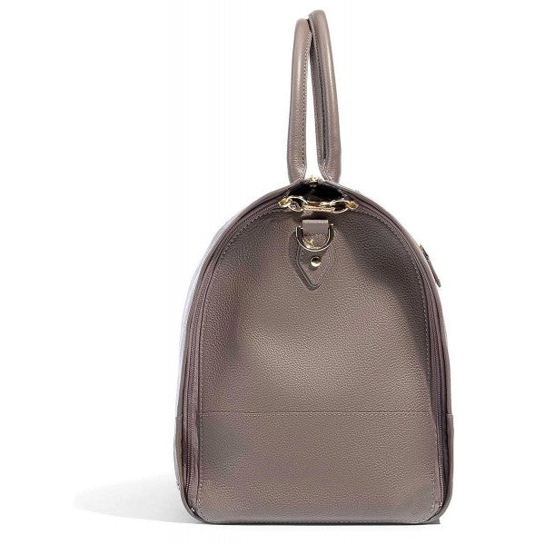 Hook & Albert Women's Leather Duffle Bag (Taupe/Gold)