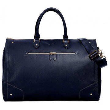 Hook & Albert Women's Navy Weekender Bag (Navy/Gold)