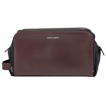 Hook & Albert Leather Toiletry Kit (Brown),One Size
