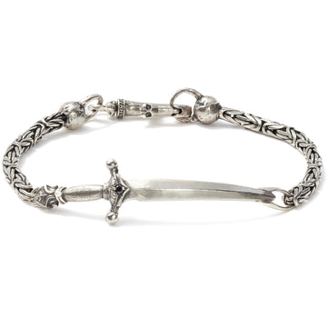 John Varvatos Bracelet Silver Dagger on a Chain