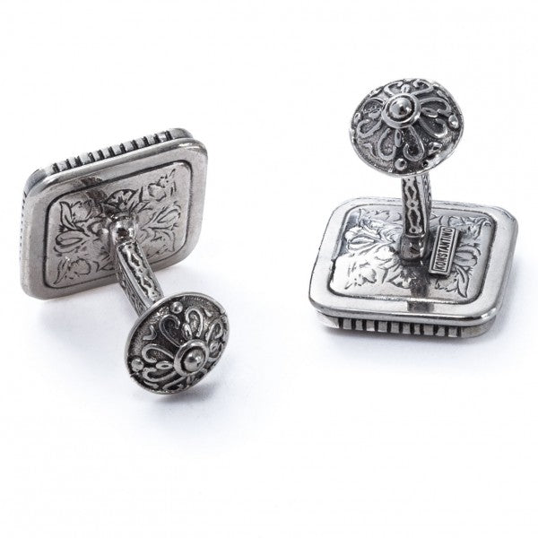 Konstantino Men's Sterling Silver Square Designer Cufflinks