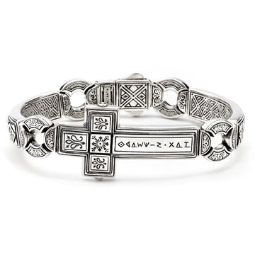 Konstantino Men's Sterling Silver Horizontal Cross