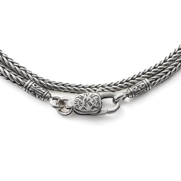 Konstantino Men's Sterling Silver Chain and Cord, 1.5mm wide