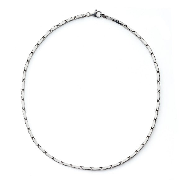 Konstantino Men's Silver Chain, 22 Inches Long, 3mm wide