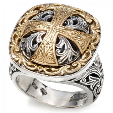 Konstantino Women's Sterling Silver & 18k gold 66 Ring