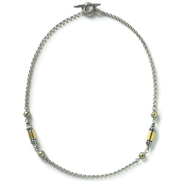 Konstantino Women's Aspasia Collection Sterling Silver and 18K Gold Chain, 18 Inches