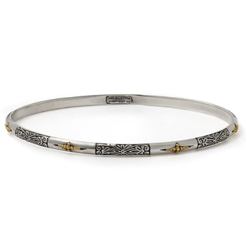 Konstantino Women's Sterling Silver & 18K Gold Bangle