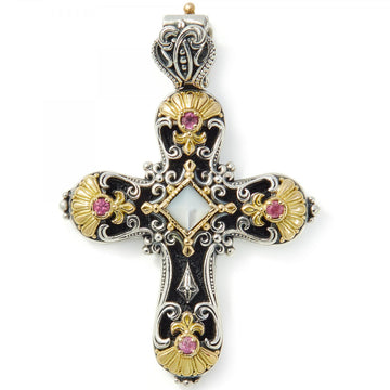 Konstantino Women's Sterling Silver & 18k Gold Cross Pendant