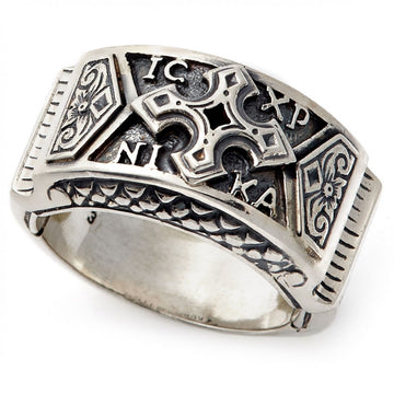 Konstantino Men's Sterling Silver Ring With Intricate Designs