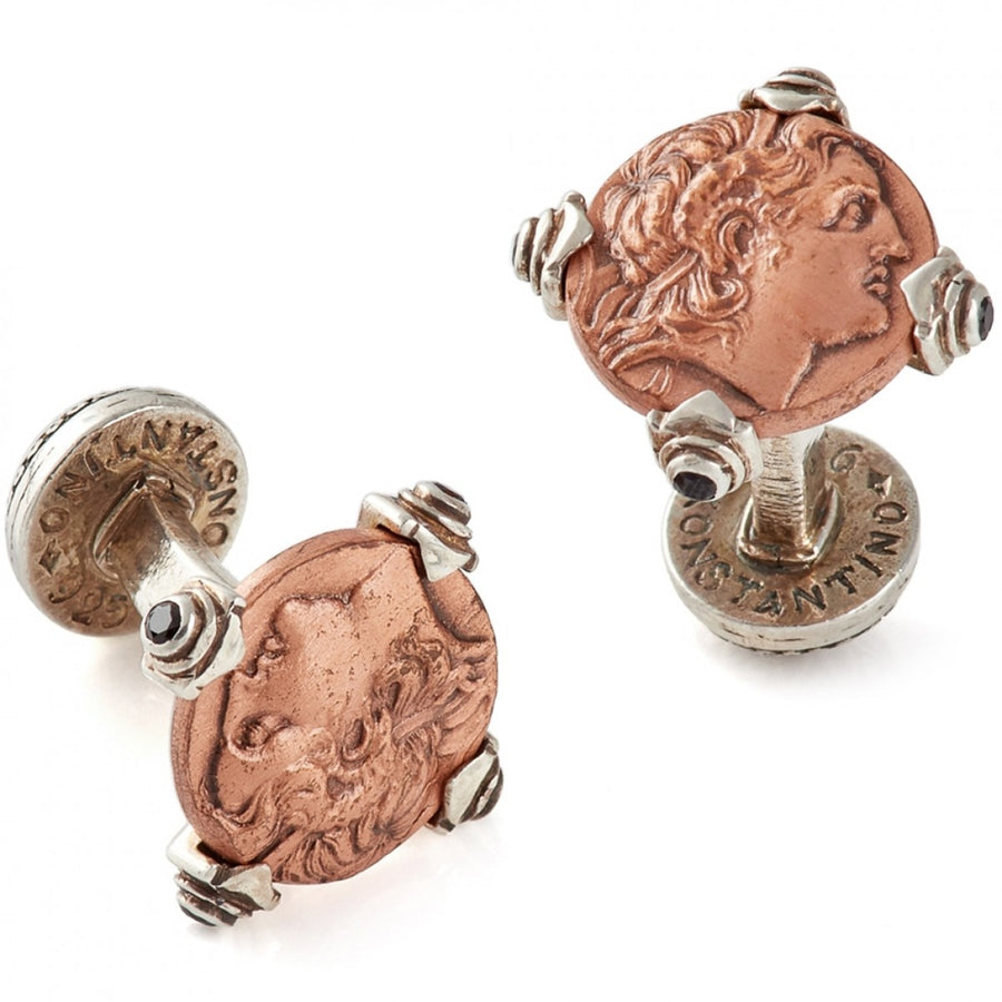 Konstantino Men's Copper Coin Cufflinks