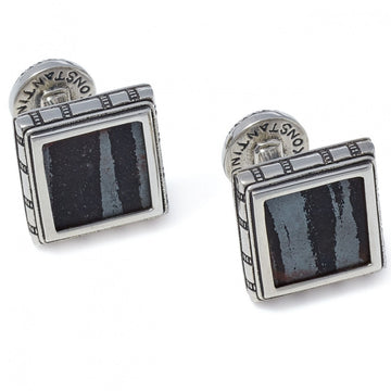 Konstantino Men's Sterling Silver Square Cufflinks