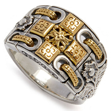 Konstantino Women's Cross Ring, Silver