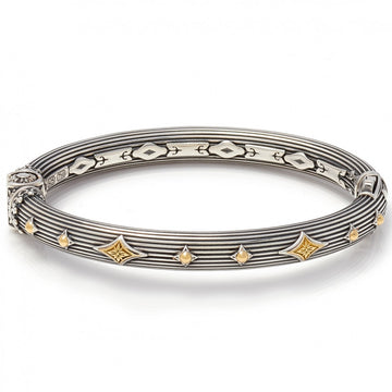 Konstantino Women's Bangle Bracelet, Silver, 6.5 IN