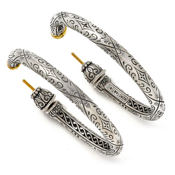 Konstantino Women's Sterling Silver & 18K gold Hoop Earrings