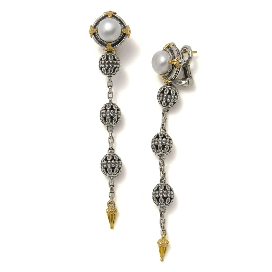 Konstantino Women's Pearl Long Earrings
