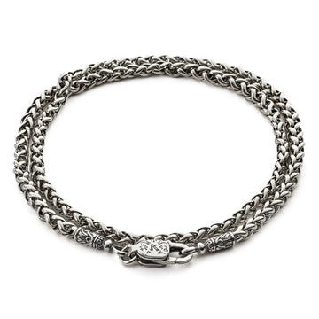 Konstantino Men's Sterling Silver Wheat Chain