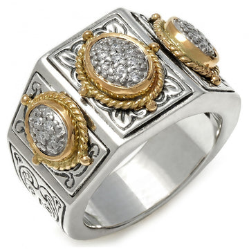 Konstantino Women's Sterling Silver & 18K Gold, Diamond Ring