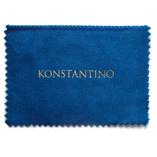 Konstantino Men's Sterling Silver and 18k Gold Black Onyx Square Ares Cufflinks