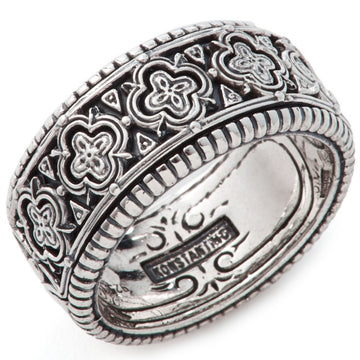 Konstantino Men's Sterling Silver Clover Ring