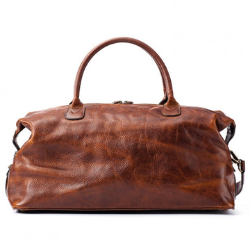Moore and Giles Leather Benedict Weekend Bag, Titan Milled Brown