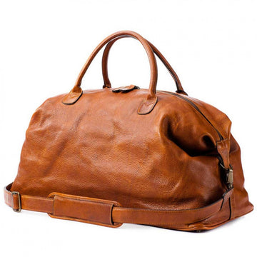 Moore & Giles Benedict Weekender Bag in Titan Milled Honey