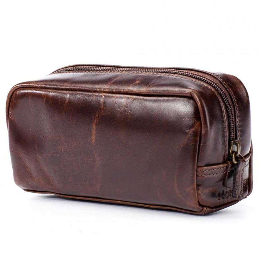 Moore and Giles Mini George Luxury Toiletries Kit, Brown - upscaleman.myshopify.com