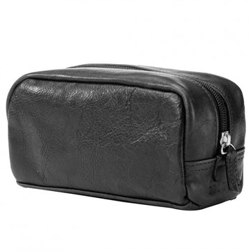 Moore and Giles Mini George Toiletries Kit - Titan Milled Gunmetal Black