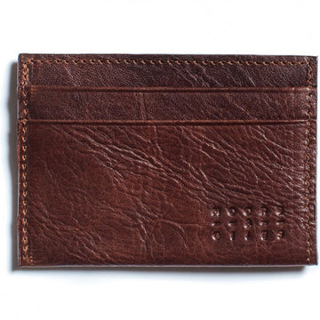 Moore and Giles License Wallet, Brown Leather