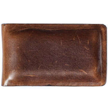 Moore and Giles Leather Money Clip, Brown - upscaleman.myshopify.com