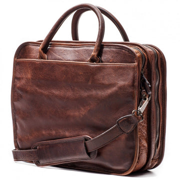 Moore and Giles Miller Leather Standard Attache - Titan Milled Brown - upscaleman.myshopify.com