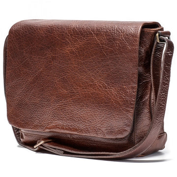 Moore and Giles Sackett Classic Messenger Bag, Hand Stained Citation Sahara - upscaleman.myshopify.com