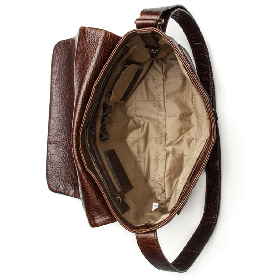Moore and Giles Sackett Classic Messenger Bag, Hand Stained Citation Sahara