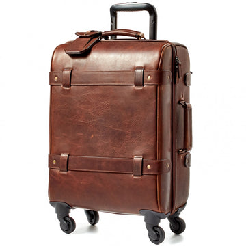 Moore and Giles Parker Baldwin Oak Leather Carry-On Suitcase - upscaleman.myshopify.com
