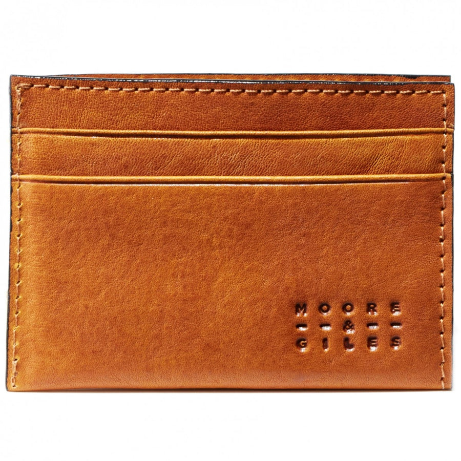 Moore and Giles License Wallet Modern Saddle Leather