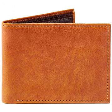 Moore and Giles Bi-Fold Wallet Modern Saddle Leather