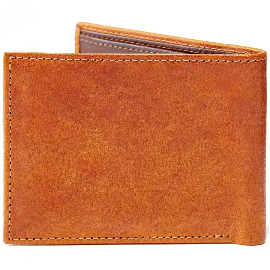 Moore and Giles Bi-Fold Wallet Modern Saddle Leather - upscaleman.myshopify.com