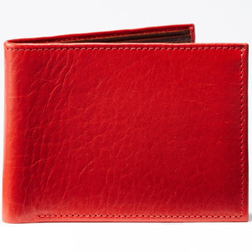 Moore and Giles Bi-Fold Wallet Titen Cherry Red Leather