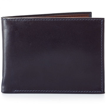 Moore and Giles Bi-Fold Wallet Brompton Midnight Leather