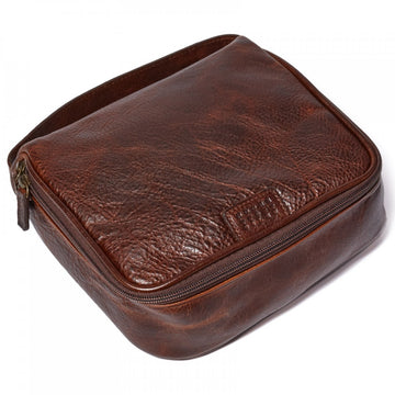 Moore and Giles Men's Donald Dopp Kit in Titan Milled Brown - upscaleman.myshopify.com