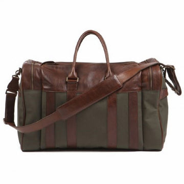 Moore & Giles Waxwear Cleland X-Large Duffle, Ventile Olive and Titan Milled Brown