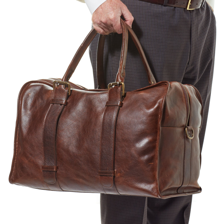 Moore & Giles Cope Duffle in Titan Milled Brown