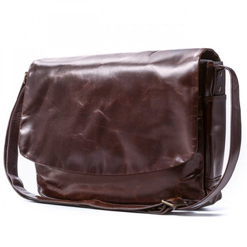Moore and Giles Sackett Classic Messenger Bag, Brompton Brown