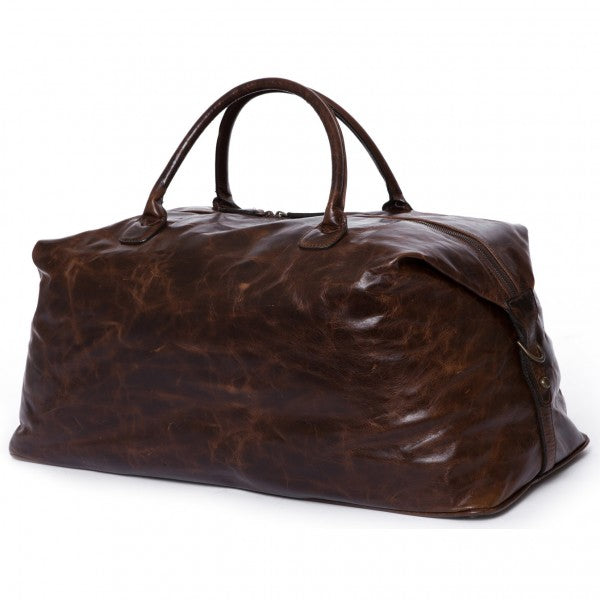Moore and Giles Men's Benedict Weekend Bag, Brompton Brown