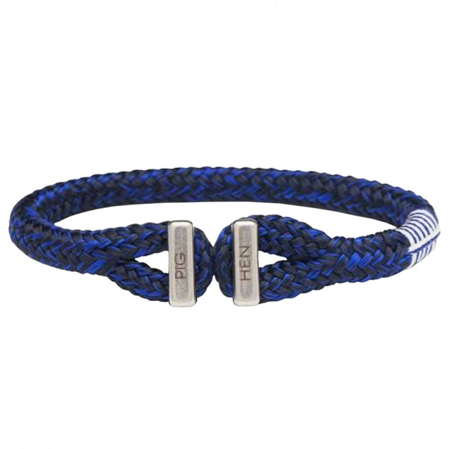 Pig and Hen Men's Icy Ike Rope Bracelet, Navy